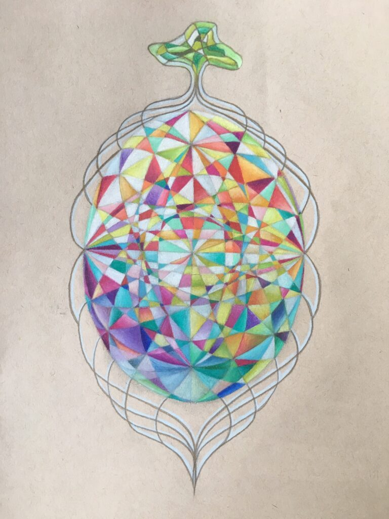 Earth's Gem. Pencil Crayon on paper, 2017.
